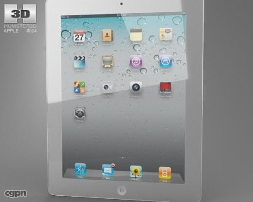 apple ipad 2 3d max