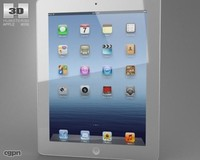 3d apple new ipad model