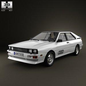 3d audi quattro 1980 model
