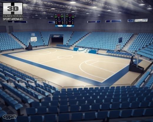 basketball arena basket 3d model