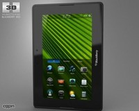 3d model of blackberry playbook