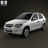 chevrolet celta hatchback 3d model