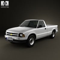 3d model chevrolet s10 singlecab