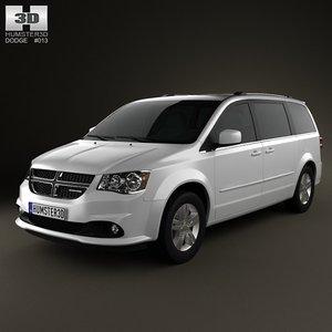 dodge caravan grand 3d model