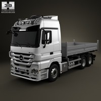 3ds mercedes-benz actros flatbed
