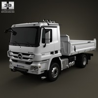 mercedes-benz actros tipper 3d model