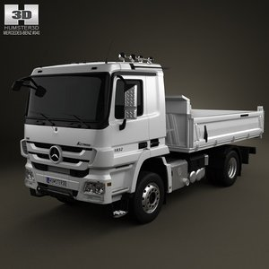 3d mercedes-benz actros tipper