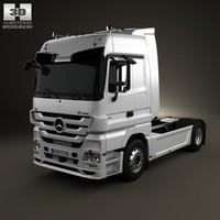 mercedes-benz actros tractor 3d c4d