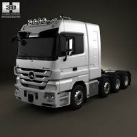 mercedes-benz actros tractor 3d model