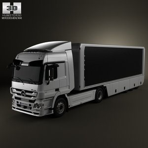 3d model mercedes-benz actros tractor
