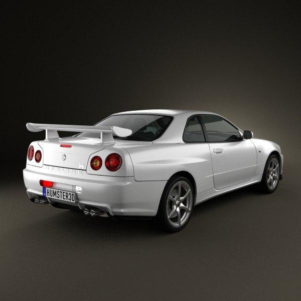 3d Nissan Skyline R34