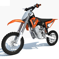 ktm motocross racing bike 3d max