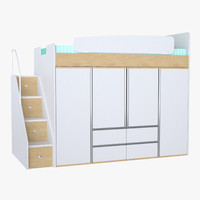 3d model photoreal bunk bed