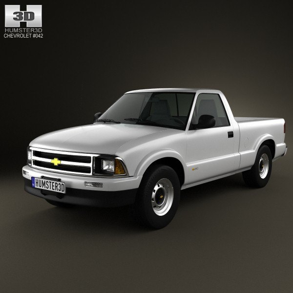 chevrolet s10 singlecab 3d model
