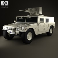 hummer m242 bushmaster 3d model