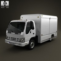 isuzu npr beverage 3d model