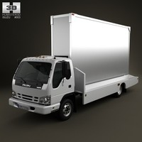 3d model of isuzu npr billboard
