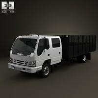 isuzu npr dump 3d model