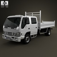 isuzu npr tipper 3d model