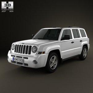 jeep patriot 2011 3d model