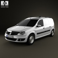 3d model renault logan van
