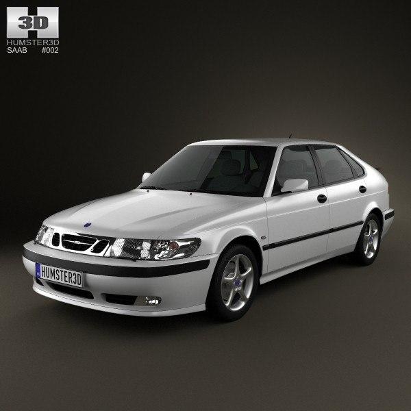 3d model saab 9-3 2001