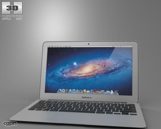 3d model apple macbook air