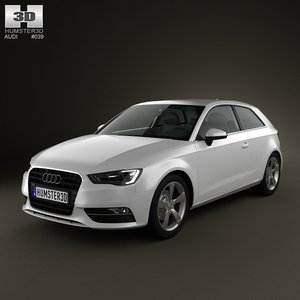 3d 3ds audi a3 hatchback