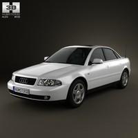 3d model audi a4 sedan