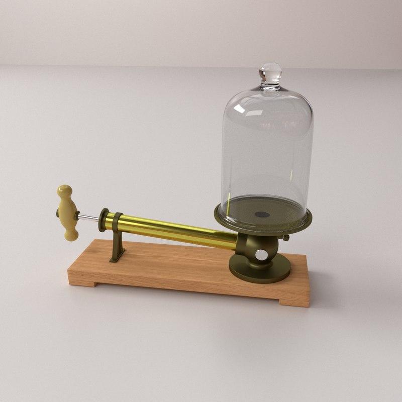 vacuum experiment 3d obj