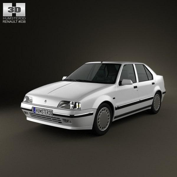 3d renault 19 sedan model