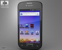3d samsung galaxy s model