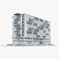 office building 1 interior 3d max