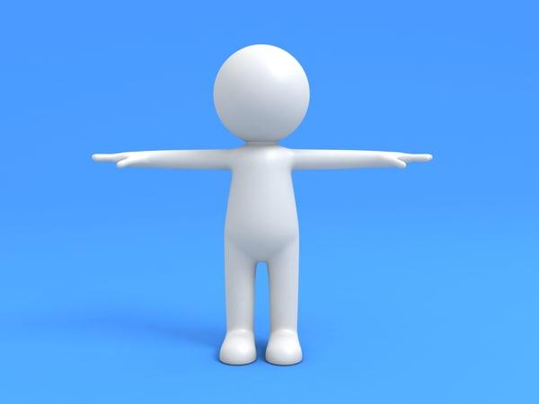 3d max simple stickman