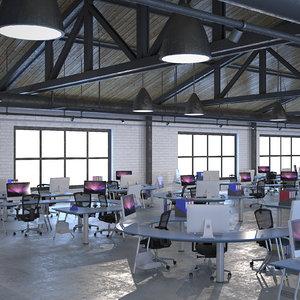 industrial office 3d model