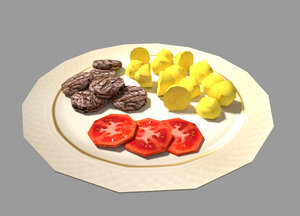 3d model meal games