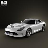 3d dodge viper srt model