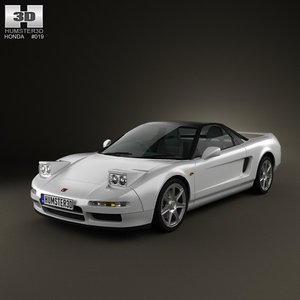 3d model of honda nsx type-r