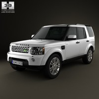 3d land-rover discovery lr4 model