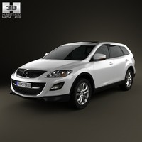 3d model of mazda cx-9 2012