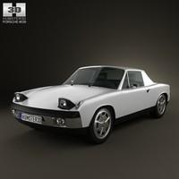 3d model of porsche 914 1972