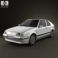 renault 19 hatchback 3d model