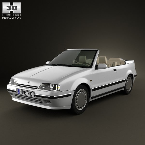renault 19 convertible 3d c4d