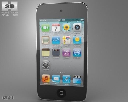 ipod apple touch 3d model