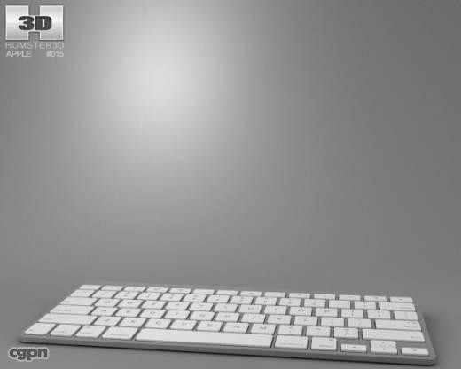 apple wireless keyboard 3d max