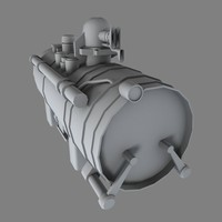 industrial engine b 3d obj