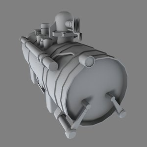 industrial engine b 3d obj