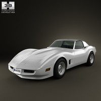 chevrolet corvette 1973 3d 3ds