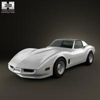 chevrolet corvette 1973 3d 3ds
