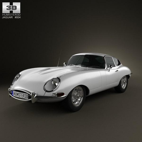 3d model e type coupe
